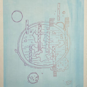 "Mandi Quinn, ""Globular"", Screen Print, 12.5"" x 15.5"""