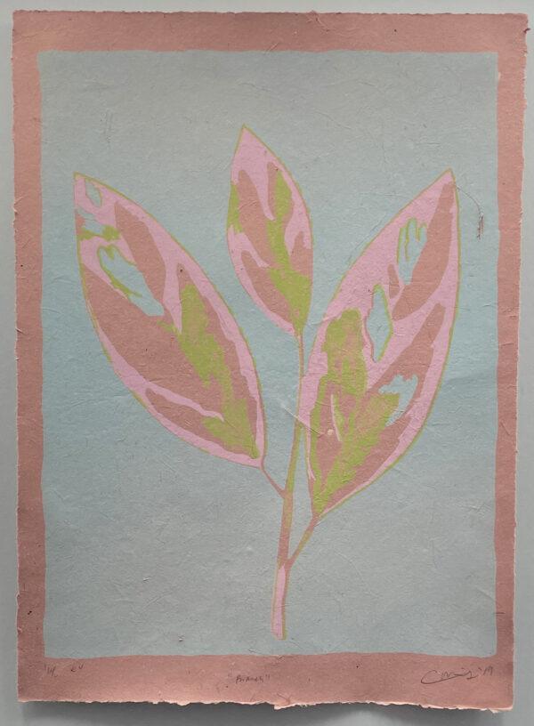 "Cooper Millholland, ""Branch"", Lithograph, 13"" x 16"""