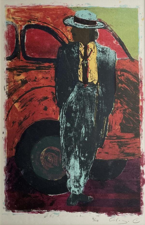 "Tony Ortega, ""San Pachuco"", Lithograph, 16"" x 21"""