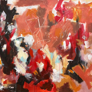 "Hosanna Deseno, ""The Interpreter"" Acrylic on Canvas, 48"" x 60"""