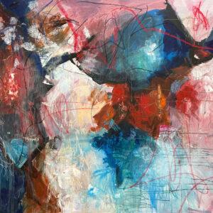 "Hosanna Deseno, ""The Scavenger"" Acrylic on Canvas, 48"" x 60"""