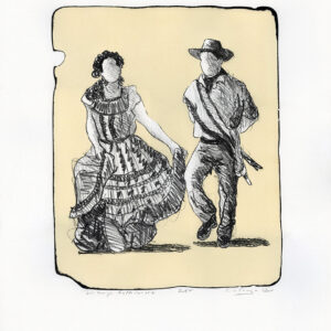 "Tony Ortega, ""Dibujo Folklorico"" Stone Lithography and Screenprint"
