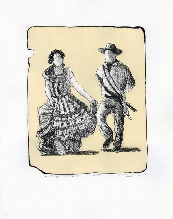 "Tony Ortega, ""Dibujo Folklorico"" Stone Lithography and Screenprint"