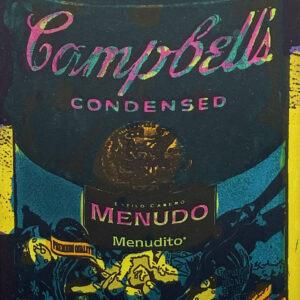 "Tony Ortega, ""Campbells Menudo"", Hand Colored Etching, 13.5"" x 16.5"""