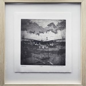 "Heather Hanson, ""Rawlins"", Copperplate Aquatint Etching on Rives BFK, 11"" x 10.5"""