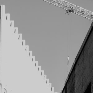 "Andrew Wohl, ""Crane and Two Buildings"", Digital Photograph Printed on Picture Rag Photo Paper, 18"" x 24"""