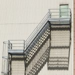 """Maddy Loucas, """"Fire Escape Shadows"""" Digital image on Photo Paper, 13"""" x 19"""""""