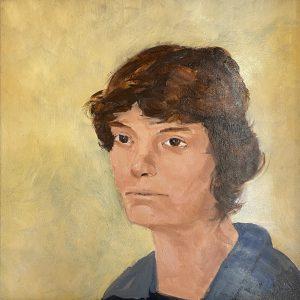 "John Passaro, Dorothy Day, Editor of the Catholic Worker, Oil on Panel, 13.5"" x 13.5"" Framed"