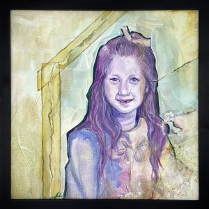 """Amy Marsh, In Sickness and in Health, Acrylic on Canvas, 15"""" x 15"""" Framed"""