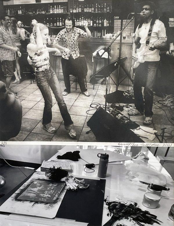 "Mother's Day Boulder Colorado / Print + Setup, Solar Plate Etching and Digital Print, 18"" x 22"" Framed"