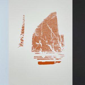 "Drew Austin, ""Cast Shadows No's. 1, 2, 3"", Screen Print on Stonehenge 11.5 x 15 in"