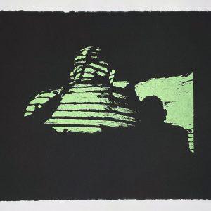 "Drew Austin, ""Cast Shadows No. 1"", Screen Print on Stonehenge 11.5 x 15 in"