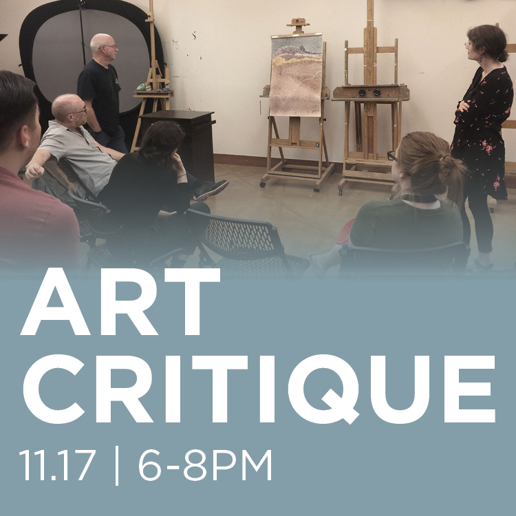 Public Art Critique, November 17 from 6 to 8 PM