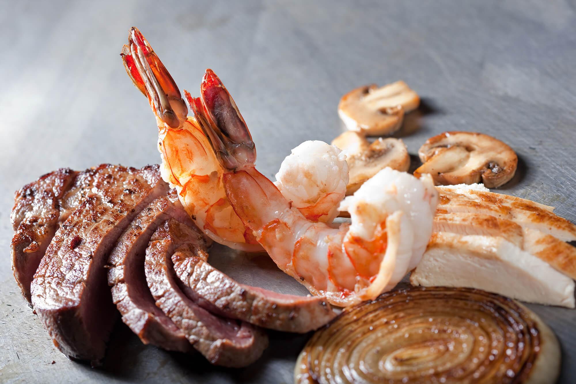 Trio - Filet, Colossal Shrimp, and Chicken