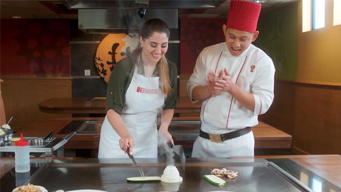 The Be the Chef program at Benihana