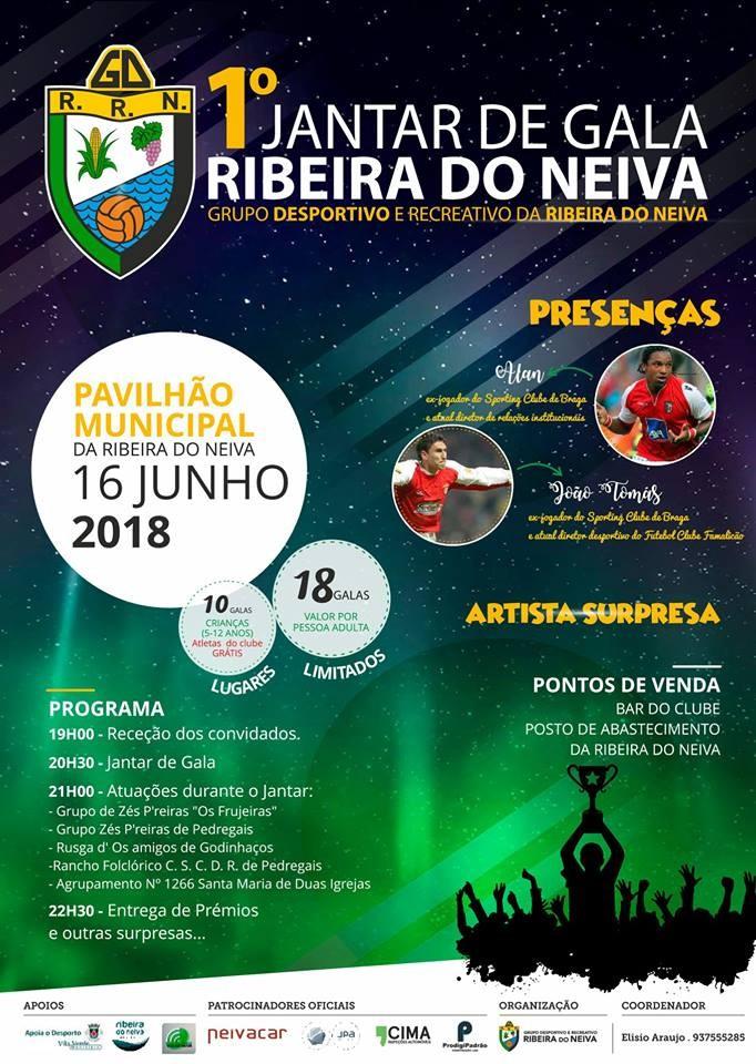 A 16 DE JUNHOAlan e João Tomás apadrinham 1ª Gala do GDR Ribeira do Neiva