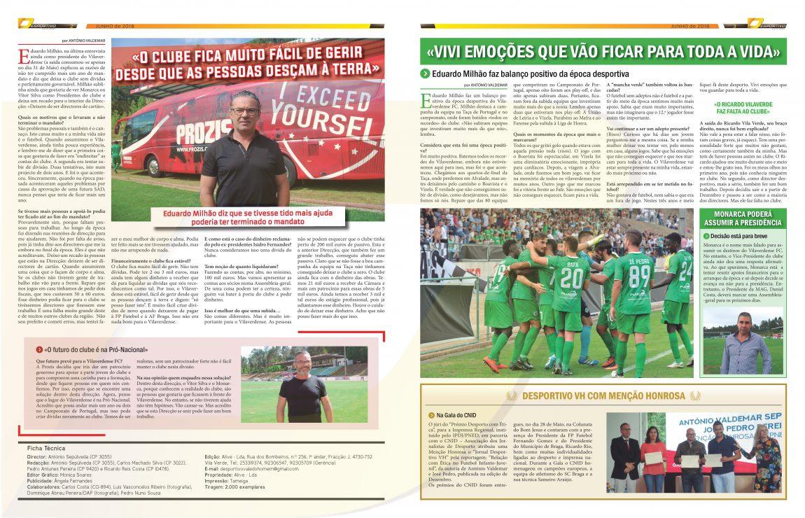 A última entrevista de Eduardo Milhão antes de sair do Vilaverdense FC