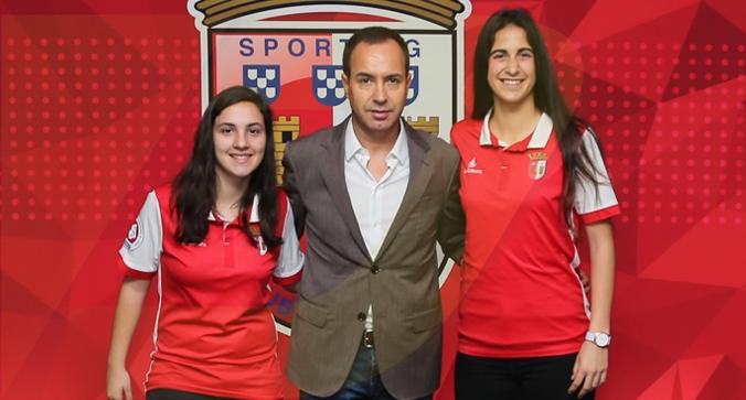 Lau Machado e Paulinha no SC Braga