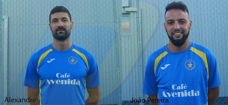 João Pereira e Alexandre de saída do Caldelas