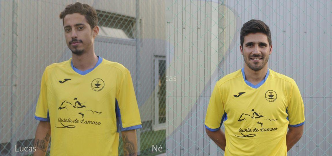 Lucas e Né no GD Caldelas