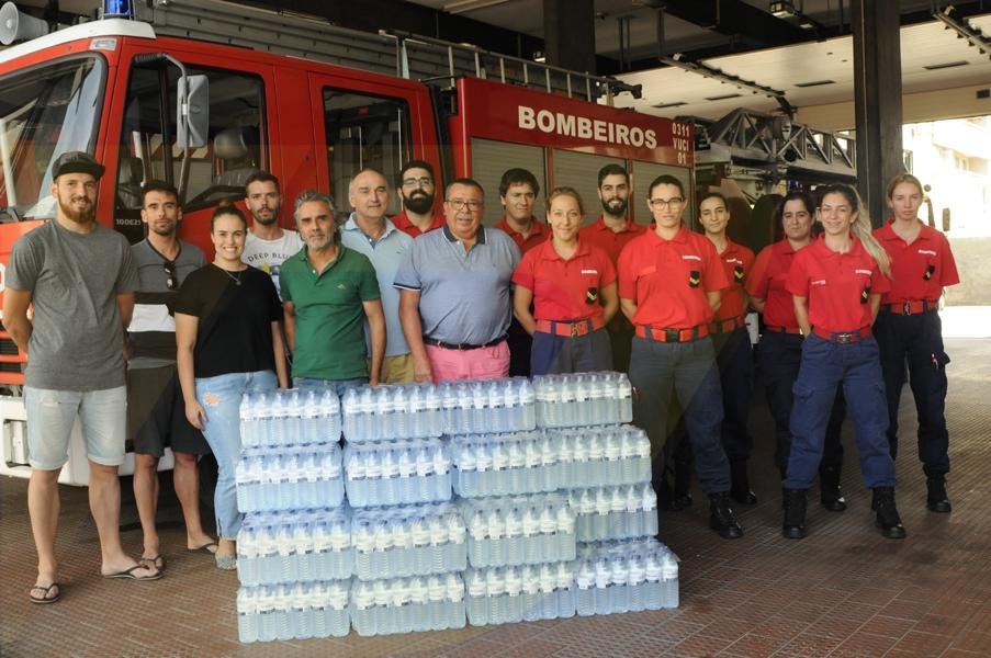 GD Caldelas oferece água aos Bombeiros de Amares