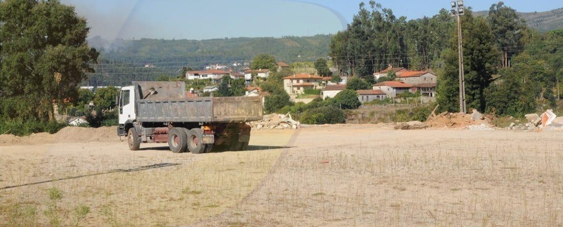 Lançamento da 1.ª pedra nas obras de requalificação no campo do Lanhas