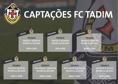 Captações no FC Tadim