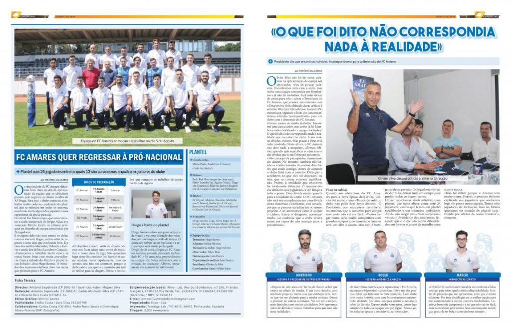 FC Amares quer regressar à Pró-Nacional