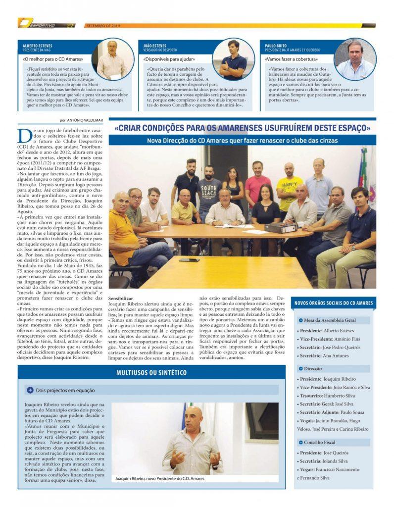CD Amares elegeu nova Direcção
