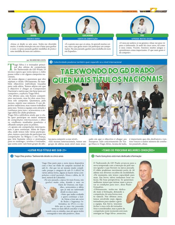 Taekwondo do GD Prado em destaque