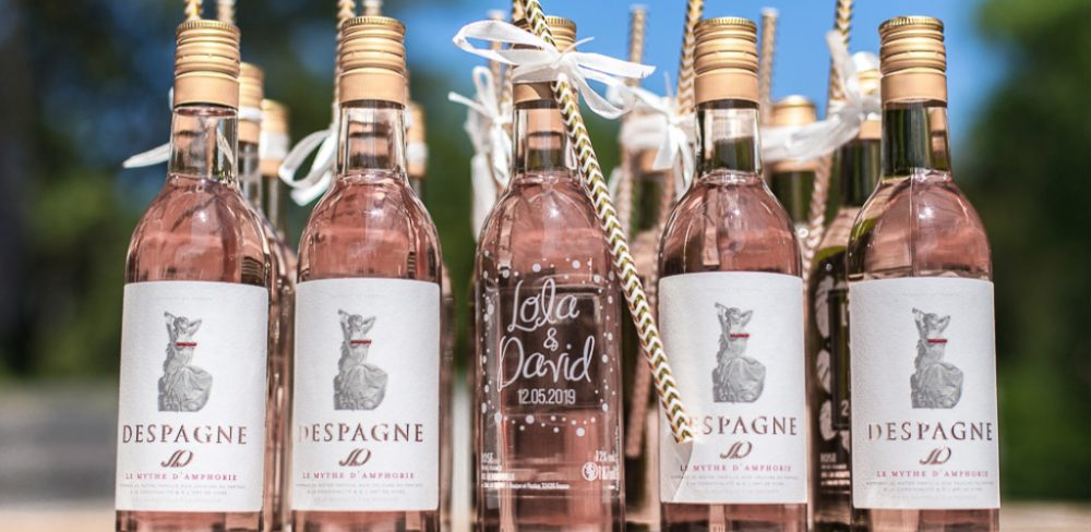 bouteille personnalisable rose evjf
