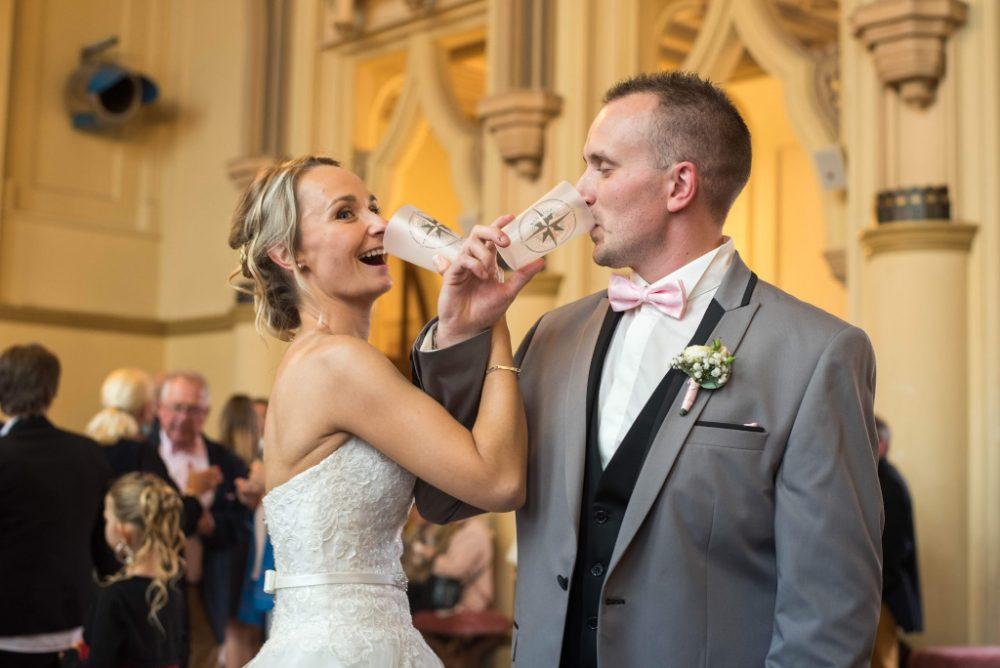 mariage gobelets couple
