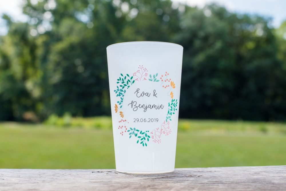 gobelet fleurs mariage champetre