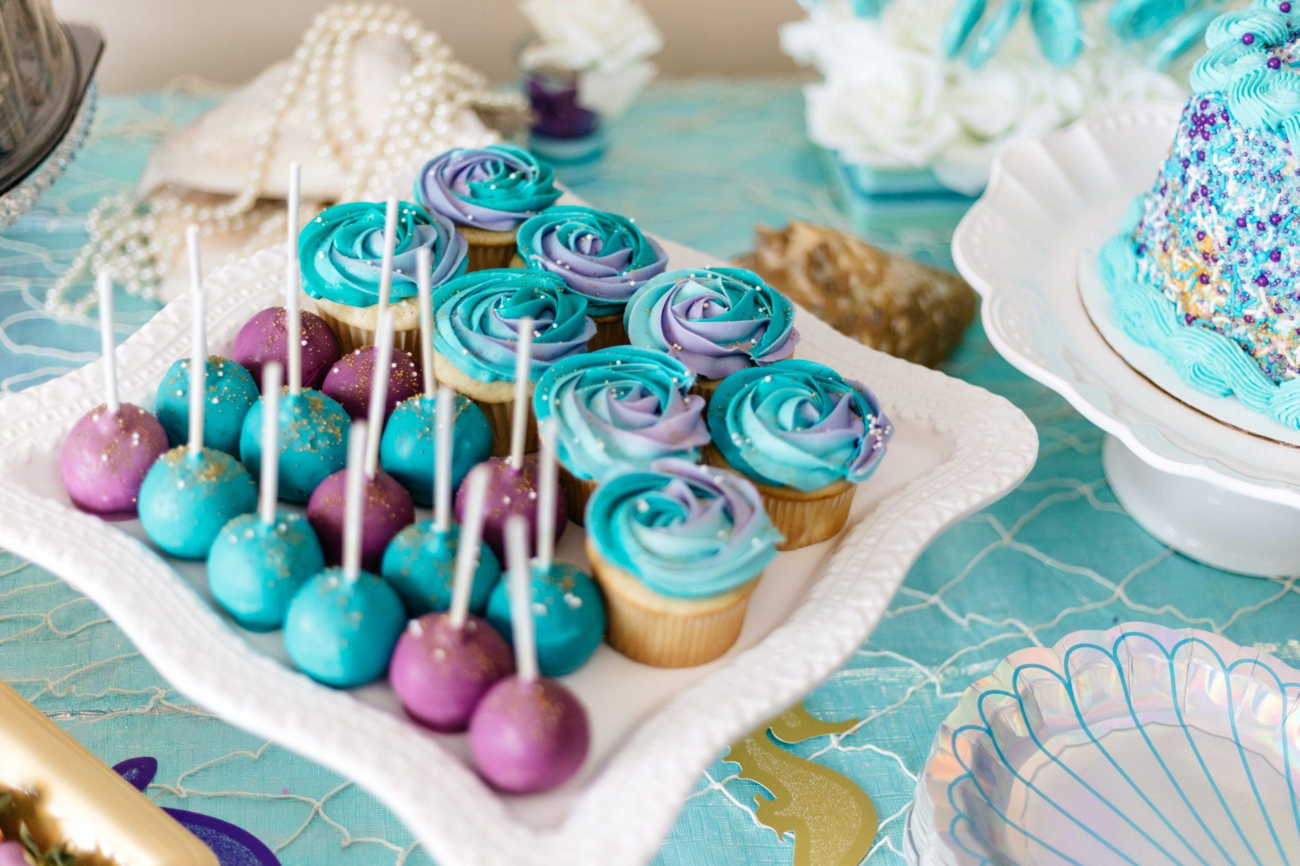 cupckaes buffet baby shower
