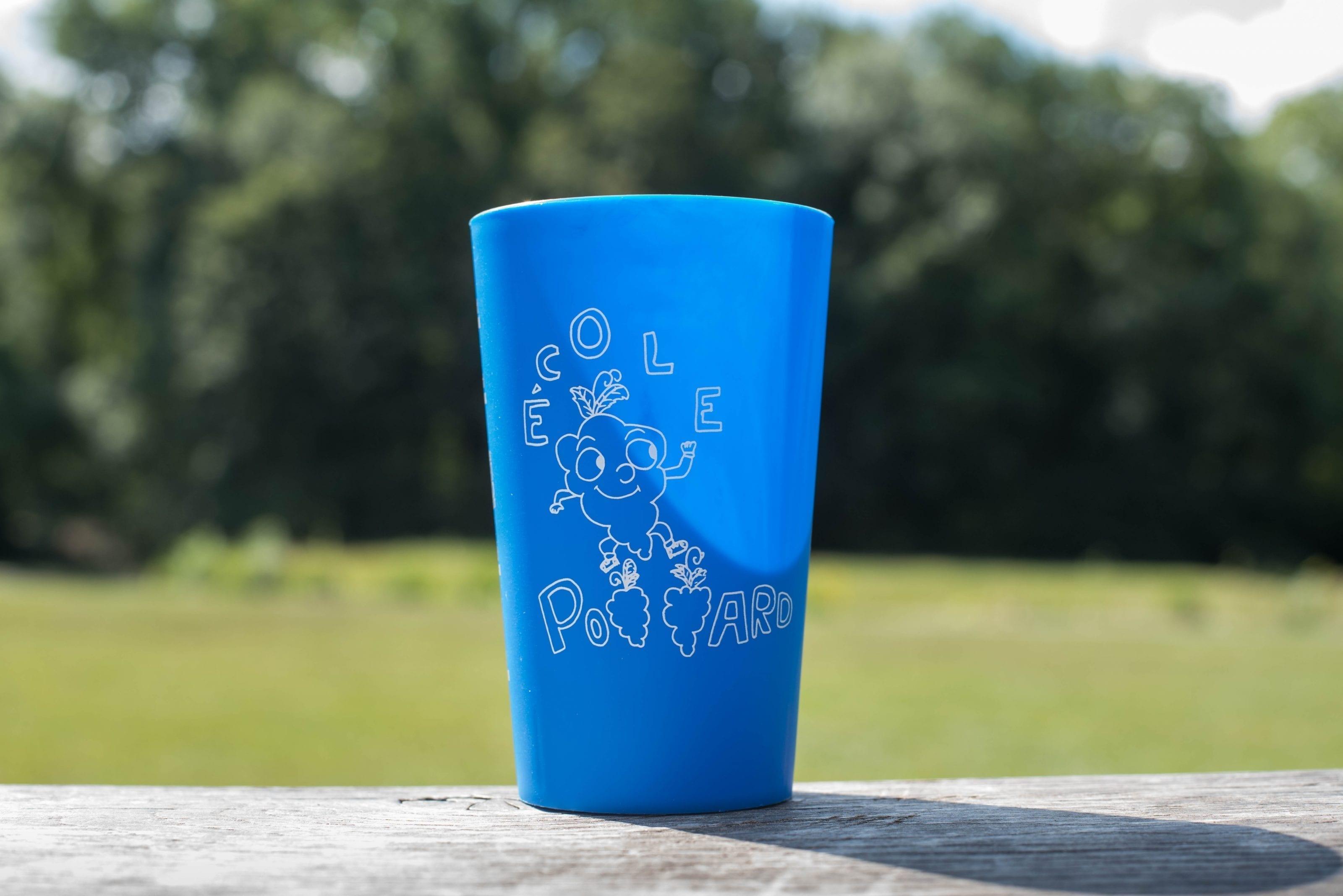 verre bleu ecole