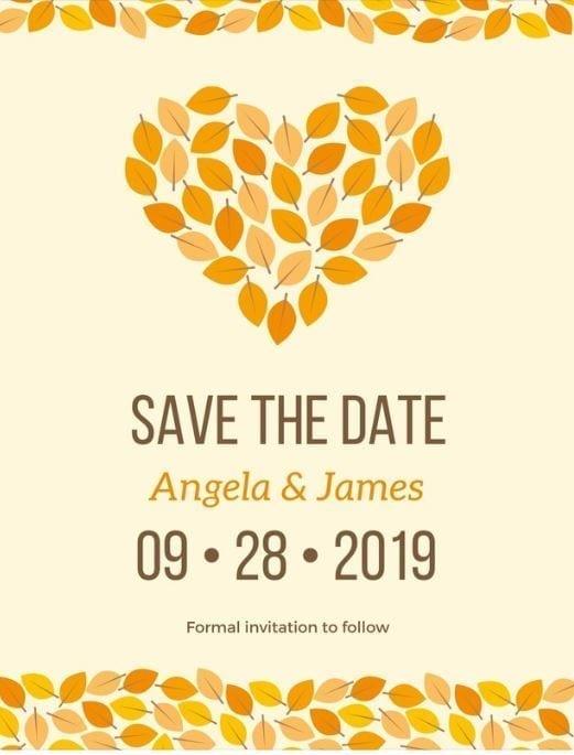 invitation automnale