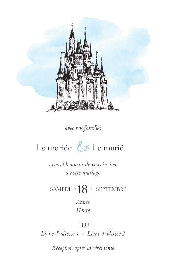 invitation chateau
