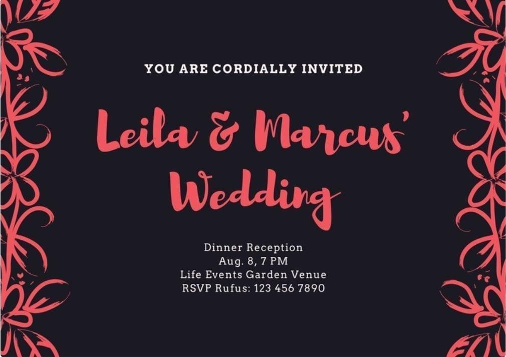 invitation mariage personnalisée