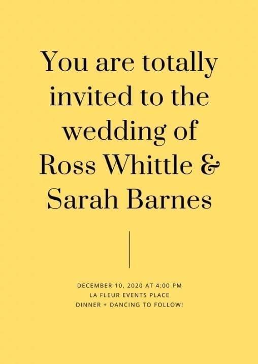 invitation jaune