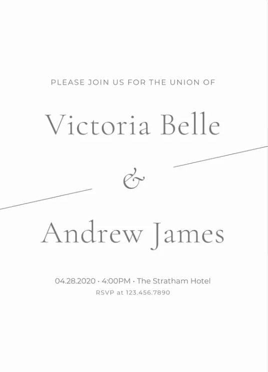 invitation minimaliste