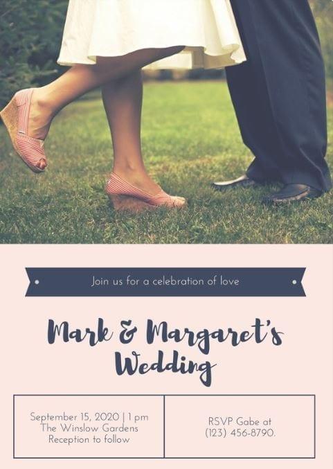 invitation de mariage avec photo à insérer