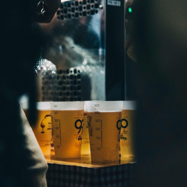Ecocups avec bières