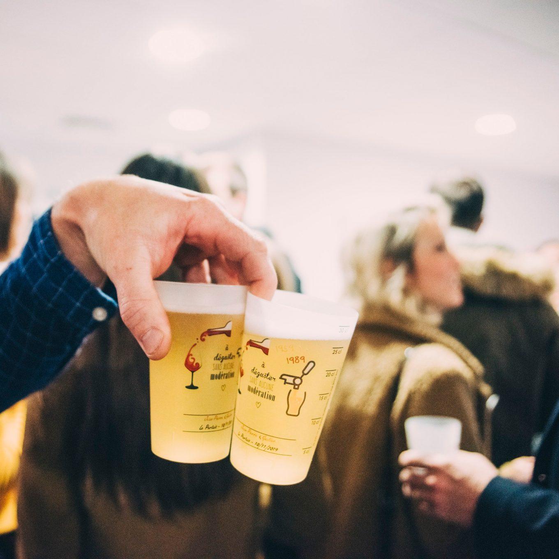 Ecocups avec bière