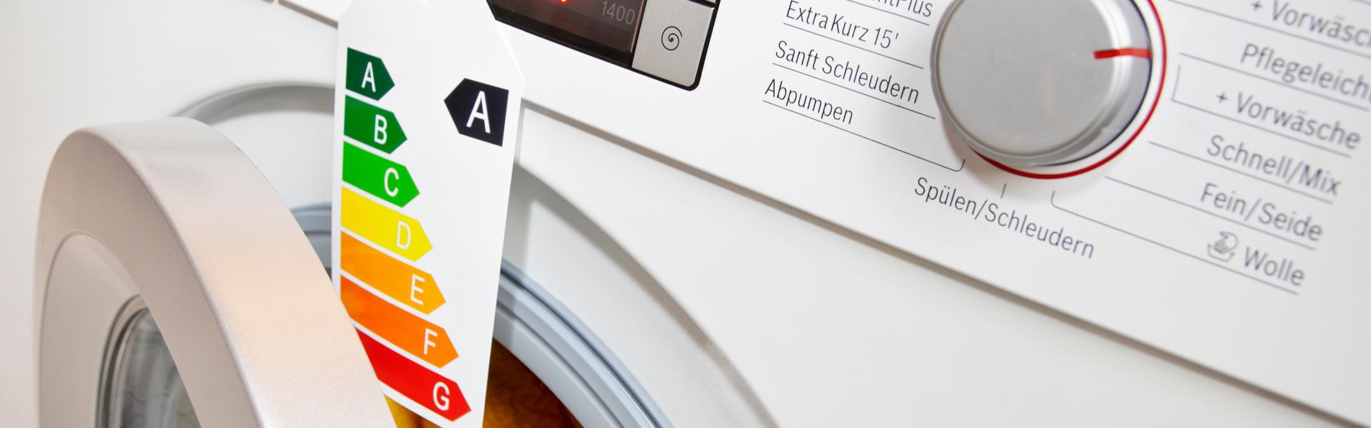 Waschmaschine mit Energieklasse A