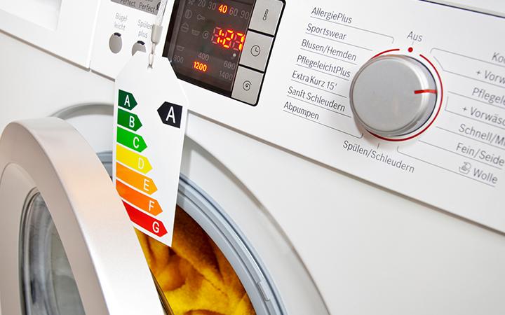 Waschmaschine mit Label A