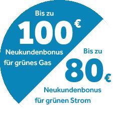 Störer Strom und Gas Neukundenbonus
