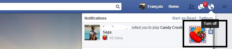ne plus recevoir de notifications candy crush