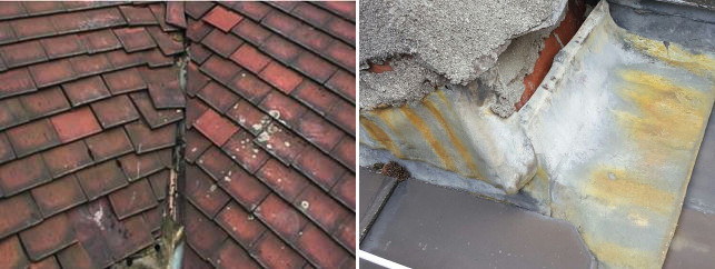 Nail fatigue on roof