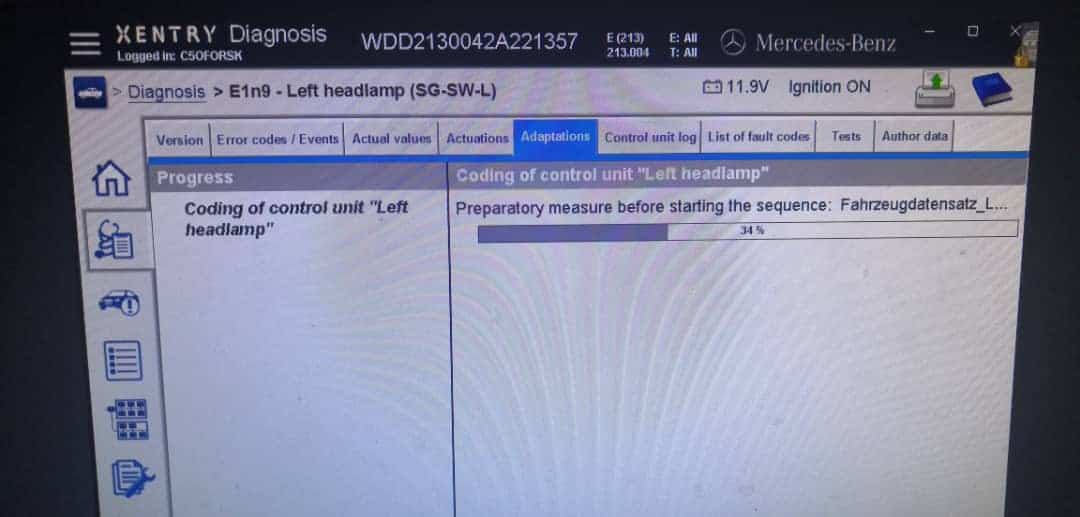Mercedes SCN coding