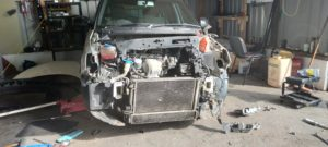 skoda fabia front end damage from copart